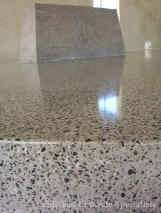 Polished concrete floor finish by Peg Syverson, via Flickr