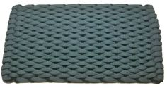 #364 Light Blue with Navy insert Rockport Rope Doormats 100% made in USA Hand woven