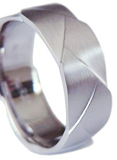 New Designer Cut Man's 935 Sterling Silver 7 mm wide Wedding Band ring Comfort Fit No Tarnish