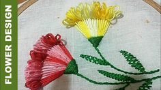 Quilling Made Easy : Hand Embroidery: Beautiful Embroidery Flower Stitch...