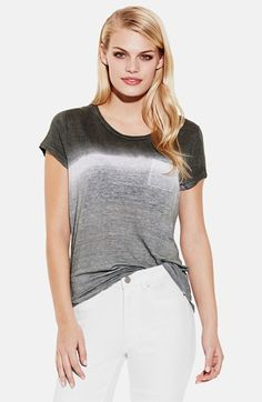 Two by Vince Camuto Dip Dye Linen Tee available at #Nordstrom