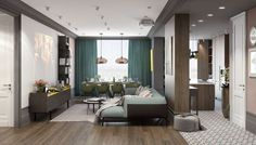 open plan living room design