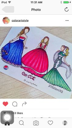 Drinks collection🍸- Pepsi, Coca-Cola ou Starbucks - who wore it better? Amazing Drawings, Beautiful Drawings, Cute Drawings, Amazing Art, App Drawings, Disney Drawings, Drawing Sketches, Fashion Design Drawings, Fashion Sketches
