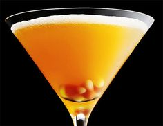 Candy Corn Martini Cocktails for Halloween
