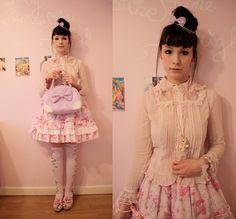 Angelic Pretty Blouse, Angelic Pretty Bag, Baby The Stars Shine Bright Skirt, Angelic Pretty Socks