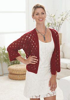 Rose Valley Cardigan By Diane Moyer - Free Crochet Pattern - (ravelry)