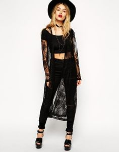 ASOS Duster Cardigan in Lace