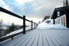 Enjoying Your Deck in Winter: Expert Tips from Fiberon Decking Paving Stone Patio, Deck Maintenance, Composite Decking, Deck Design, The Great Outdoors, Outdoor Living, Backyard, Exterior, Decking Boards