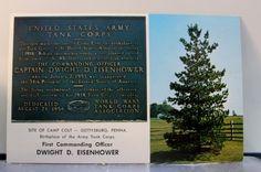Pennsylvania PA Gettysburg Dwight D Eisenhower Postcard Old Vintage Card View PC