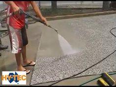 Hy-Tec Exposed Concrete using Rugasol Concrete Patios, Acid Concrete, Concrete Floor Coatings, Concrete Backyard, Concrete Patio Designs, Concrete Driveways, Exposed Concrete, Pebble Driveway, Pebble Patio