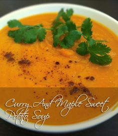 Curry And Maple Sweet Potato Soup | 28 Delicious Vegan Holiday Recipes