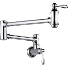 Found it at Wayfair - Cassidy Traditional Double Handle Wall Mount  Pot Filler Faucet - in brass