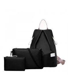 c045b68a79bc 3 Bags Fashion Women Handbag HN Casual Shoulder Backpack - Black -  C112KB1FHT3