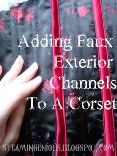 Steam Ingenious: Tutorial: Adding Faux External Channels to a Corset