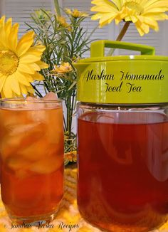 Sandra's Alaska Recipes: SANDRA'S ALASKAN HOMEMADE ICED TEA (with homemade Fireweed-Clover Honey)...