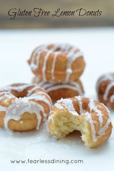 Gluten Free Lemon Donuts That Your Kids Will Beg For! How to make baked gluten free donuts healthy.