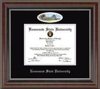 The Campus Cameo Edition features artwork of your school by renowned Eglomise Designs Inc.® or the Overly collection. Search for a college or university to view the campus cameo diploma frame!