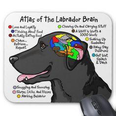 black lab funny | Black Labrador Brain Atlas Mouse Pads from Zazzle.com