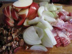 slow cooker apple, bacon, pecan pork chops. so easy, so delicious!