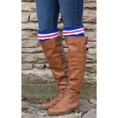 Boot Cuffs Boot Toppers Spirit Wear Hockey Socks Hockey Mom Team... ($20) ❤ liked on Polyvore