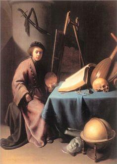 Artist in His Studio - Gerrit Dou