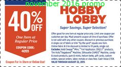 Hobby Lobby coupon & Hobby Lobby promo code from The Coupons App. off a single item at Hobby Lobby, or online via promo code 5344 March Hobby Lobby Weekly Ad, Hobby Lobby Coupon, Hobby Lobby App, Hobbies To Try, Hobbies For Men, Cheap Hobbies, Store Coupons, Shopping Coupons, Retail Coupons