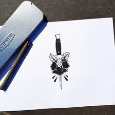 HIT   #switchblade #rose #tattoo #flash #sketch