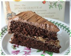 Junior League Chocolate Cake with Coffee Frosting