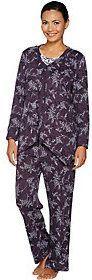 Carole Hochman Petite Interlock Etched Floral 3-PC Pajama Set