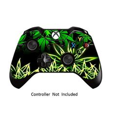 Skins Stickers for Xbox One Games Controller  Custom Orginal Xbox 1 Remote Controller Wired Wireless Protective Vinyl Decals Covers  Leather Texture Protector Accessories  Weeds Black ** You can get additional details at the image link.Note:It is affiliate link to Amazon.