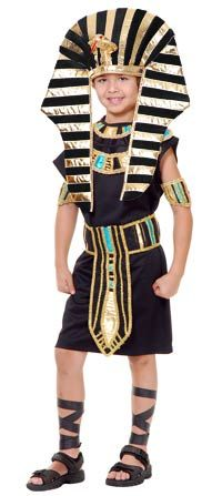 Kids Costumes - This King Tut Kids Costume features the black tunic, collar, belt, arm bands, and the matching headpiece. Boy Halloween Costumes, Boy Costumes, Egyptian Costume, Costume Craze, Egyptian Kings, Black Tunic, Costume Accessories, Headpiece, Party Time