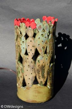 Sculpture and Ceramics - Cactus Lamp