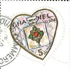 Chanel stamp (French Poste Office) for Valentine's Day 2004 #CocoChanel Visit espritdegabrielle.com | L'héritage de Coco Chanel #espritdegabrielle