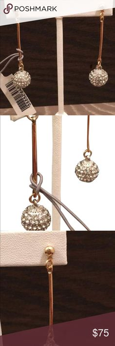 KENNETH JAY LANE SILVER/Gold Pave Earrings Price reduced today only! Kenneth Jay Lane Pave Silver and Gold Crystal Drop Ball earrings. Brand New With Tags Kenneth Jay Lane Jewelry Earrings