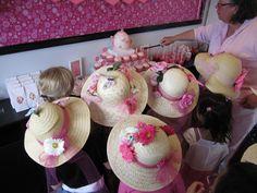 fake flowers + glue gun = cute DIY tea party hats
