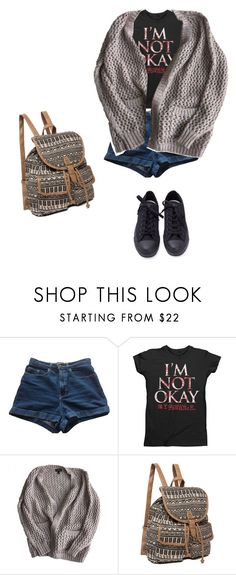 """Untitled #801"" by a-black-pansy on Polyvore featuring American Apparel, Topshop and Converse"