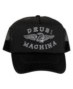 DEUS Curtis Trucker cap - Black Deus Ex Machina 29bd4cc19e49