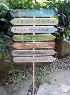 Enchanted Forest Sign Post by SplatterPalette on Etsy