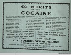 """This ad comes from """"Practical Druggist,"""" volume number August Carl Koller, """"the first to apply Cocaine in medicine,"""" was ."""