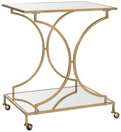 Ignatius Bar Cart Gold