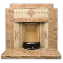1930's Art Deco all tiled fireplace