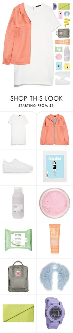 """""""Take me back to the basics and the simple life"""" by tiaranurindaa ❤ liked on Polyvore featuring MANGO, A.P.C., adidas Originals, Davines, Topshop, Fjällräven, River Island, Monki and Nixon"""