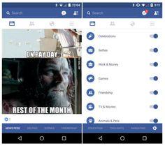 Sabías que Facebook prueba una serie de mejoras para su aplicación para Android