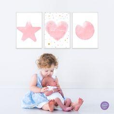Baby girl wall art pink nursery wall art kids room decal | Etsy