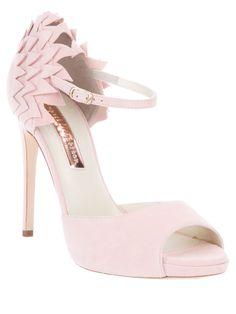 b4ca778db55 RUPERT SANDERSON Structured sandal Pink Heels