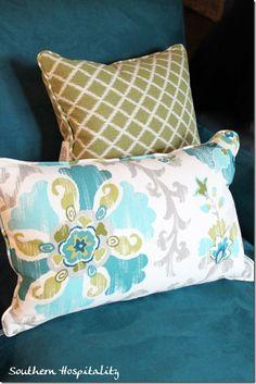 Love this fabric combo - from Ballard Designs