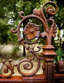 old iron gate Old Gates, Iron Gates, Garden Gates, Garden Art, Rust In Peace, Peeling Paint, Rusty Metal, Iron Work, Architectural Salvage