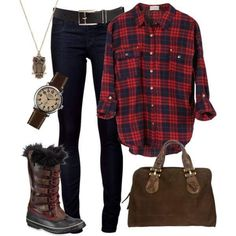 Boyfriend Checkered Shirt Styled With Denim Wear