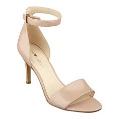 9W InStyle Nude Izzy Ankle Strap Heel