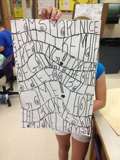""""""" poems and are turning them into ART! Group Art Projects, Art History Lessons, 6th Grade Art, Alphabet Art, Art Lessons Elementary, Elements Of Art, Typography Art, Art Lesson Plans, Art Classroom"""